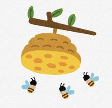 ミツバチの巣 イラスト