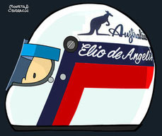 Helmet of Elio de Angelis by Muneta & Cerracín