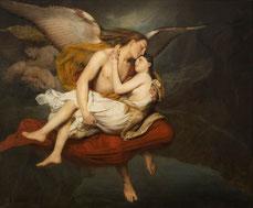 François-Édouard Cibot, Les amours des anges au moment du déluge, 1834, huile sur toile, collection musée des beaux-arts de Brest métropole.