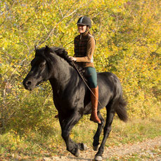 Giulia and the Bardigiano stallion Orfeo