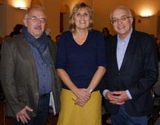 v.l.: Michael Horster (Stadt Düsseldorf), Ursula Hennel (SKFM) und Michael Brockerhoff (Bürgerstiftung Gerricus).
