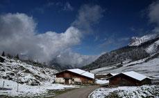 Die Ladiz-Alpe im Schnee