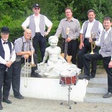 Old Time Jazz aus Rostock für Norddeutschland, Dixieland mit Klarinette, Trompete, Posaune, Klavier, Schlagzeug und Kontrabass