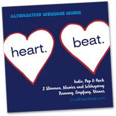 Demo-CD mit modernen Hochzeitsliedern