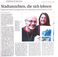 """Pressebericht Schwärzwalder Bote """"Stadtansichten, die sich lohnen"""""""