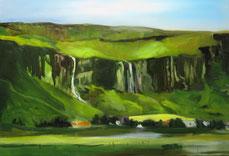 Island Öl auf Leinwand 120 x 80 cm