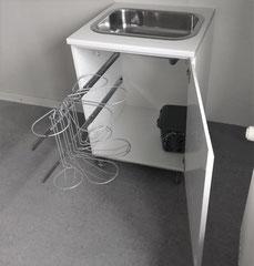 køkken affaldsstativ / affaldsorteringssystem på udtraksskinen