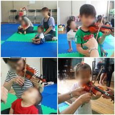 小さなヴァイオリンがとても可愛らしい🎻