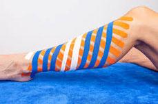 Lymftaping bij oedeem vaak ook bij medical taping bij blessures en overbelasting bij MdR Sportmassage Den Bosch