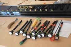 Registratura fisharmonii firmy MANNBORG