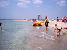 Песчаный пляж и чистое море