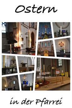 Collage Ostern in der Pfarrei