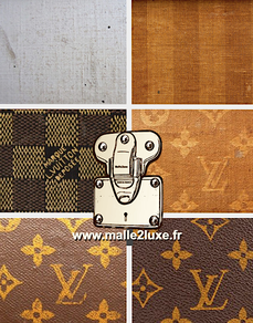 Louis vuitton coated canvas woven stencils trunk