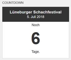 Lüneburger Schachfestival Countdown