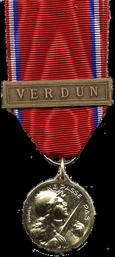 cff38335080938 O comme On ne passe pas ! La médaille de Verdun - Site de ...