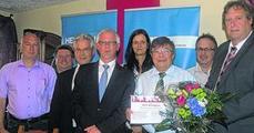 Neu gewählter OV-Vorstand Kinzweiler (neuer OV-Vors. Laufs (1 v. l. u. Ehrenvors. Bündgens 2. v. l.)