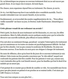 LMC France Huffington Post Huff Mina Daban leucemie myeloide chronique cancer sang  guerison espoir