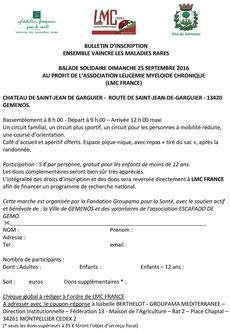 LMC FRANCE BALADE SOLIDAIRE GROUPAMA FONDATION GEMENOS MAIRIE