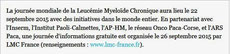 LMC France Huffington Post Huff Mina  Stephane Daban leucemie myeloide chronique cancer sang  guerison espoir