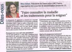 leucémie myéloïde chronique marseille l'hebdo lmc france course contre leucemie