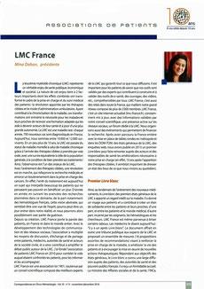 LMC France Correspondance Onco Hématologie oncologie leucemie Mina Daban association patient cancer 2017