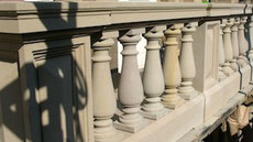 restauration d'une balustrade en grès blanc
