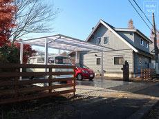 イタウバ、ウッドフェンス、横板フェンス、枕木門柱、豪州産枕木、照明、表札、施工例