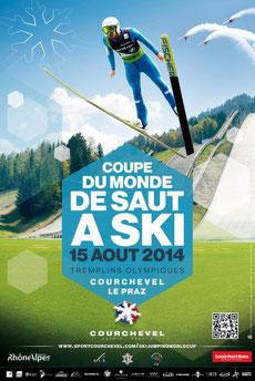 Coupe de Monde Saut a Ski  Courchevel 2014 voltige show aerien Stearman AdrenalinFlights  voltige aérienne Hérault Languedoc Roussillon Rhone Alpes
