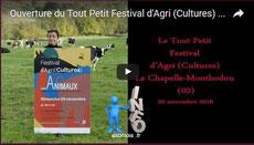 Ouverture du Tout Petit Festival d'Agri (Cultures) 2016