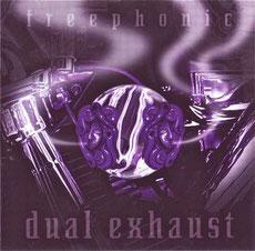 "Zain's design for the freephonic album ""dual exhaust""."