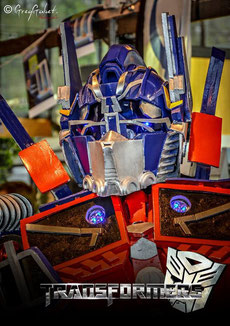 animation robot optimus prime , mascotte , transformers ,