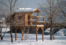 Unser Stelzenhaus im Winter