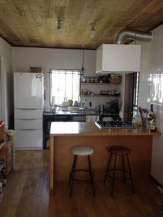 ナラ集成材 キッチン テーブル 天板