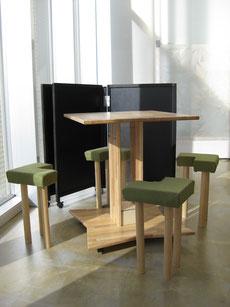 ゴム集成材の自作の机