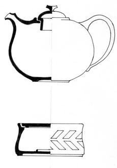 Bild: Keramik Teekannen
