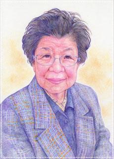 敬老の日 プレゼント 色鉛筆似顔絵 写実 リアル おばあちゃん