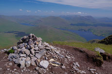 On the top of the Mweelrea. the highest point of Connaught.