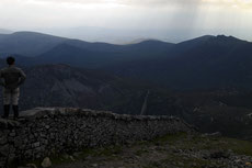 On the top of Slieve Donard the highest point of Ulster.