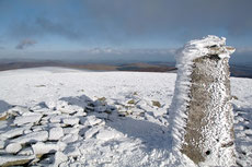 On the top of Lugnaquilla the highest point of Wicklow and also Leinster.