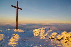 On the top of Carrauntoohil the highest point of Ireland.