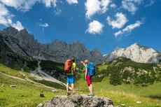 Wandern am Wilden Kaiser, Familienwanderung, Klettern, Klettersteige, hochalpine Touren