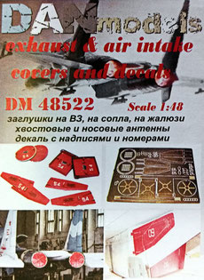 Su-27 exhaust & air intakes covers and decals (Academy kit)