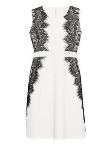 elegantes weisses Kleid in grossen grössen