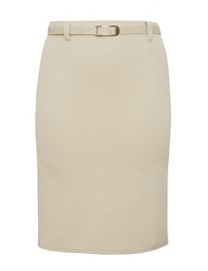 eleganter Schlauchrock beige Plus Size