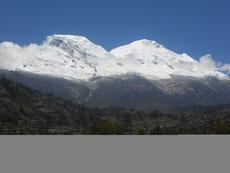 ..und die Cordillera Blanca sehen wir nur von unten...