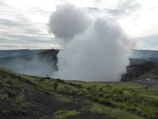 Der Vulkan Masaya speit wohl keine Lava, aber er qualmt 24 Stunden am Tag