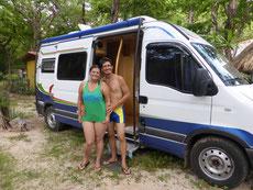 Mit dem brasilianischen Paar Antonio und Jane reisen wir paar Tage zusammen