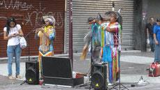 Indianische Musikertruppe
