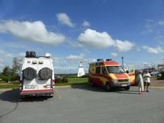 Auf der Lighthouse Route kann man bei den Leuchttürmen oft übernachten, wie hier am Port Medway.