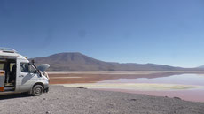 Service an der Laguna Colorada